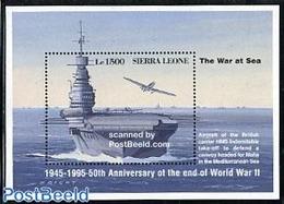 Sierra Leone 1995 HMS Indomitable S/s, (Mint NH), Transport - Ships And Boats - History - World War II - 2. Weltkrieg