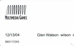 Wilson Travel Plaza / Casino - Wilson OK - Multimedia Games Slot Card - Casino Cards
