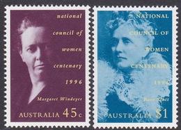 Australia ASC 1575-1576 1996 National Council Of Women, Mint Never Hinged - 1990-99 Elizabeth II