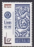 Australia ASC 1611 1997 50th Anniversary Of Lions International, Mint Never Hinged - 1990-99 Elizabeth II