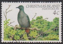 CHRISTMAS ISLAND-USED 1983 4c Birds - Imperial Pigeon - Christmas Island