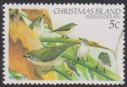 CHRISTMAS ISLAND-USED 1983 5c Birds - Christmas Island Silvereyes - Christmas Island