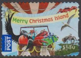 CHRISTMAS ISLAND-USED-DIE-CUT 2013 $1.80 Christmas, International -Bird And Crabs - Christmas Island