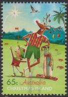 CHRISTMAS ISLAND-USED 2017 65c Christmas - Rudolph Playing Golf - Christmas Island