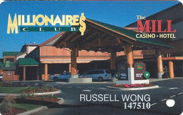 The Mill Casino - North Bend OR - Slot Card With No Text Under Reverse Logo - Casino Cards