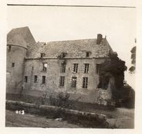 PHOTO ALLEMANDE - LES RUINES DU CHATEAU DE HAPPLINCOURT PRES VILLERS CARBONNEL - SOMME  GUERRE 1914 1918 - 1914-18