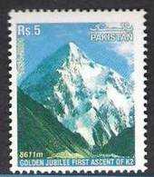 PAKISTAN 2004 - Golden Jubilee Of First Ascent Of K2,  Mountains, K-2, 1v MNH - Pakistan