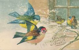 """CPA -11274- Illustrateurs - Très Belle Illustration """"Mésanges - Joyeux Noël"""" Signée  A. Jacques  (à Confirmer) - Illustrateurs & Photographes"""