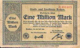 ALLEMAGNE – Stadt= Und Landkreis AACHEN – 20/07/1923 - Billet De Nécessité De 1.000.000 Mark - [11] Emissions Locales