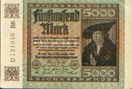 ALLEMAGNE – Reichsbanknote – 5000 Mark – 02/12/1922 - [ 3] 1918-1933 : République De Weimar