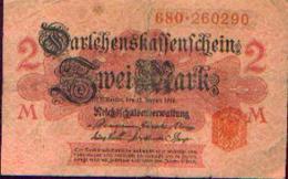 ALLEMAGNE – Darlehnskassenschein – 2 Mark – 12/08/1914 - Allemagne
