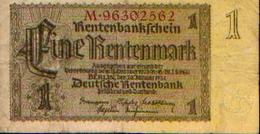 ALLEMAGNE – Rentenbankschein – 1 Rentenmark – 30/01/1937 - [ 3] 1918-1933 : República De Weimar