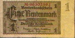 ALLEMAGNE – Rentenbankschein – 1 Rentenmark – 30/01/1937 - [ 3] 1918-1933 : République De Weimar