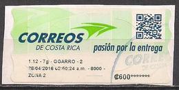 Costa Rica Automatenmarke / ATM  Gest. / Used  (16ba7) - Costa Rica