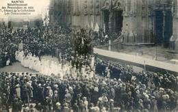 44 - Nantes - Rétablissement Des Processions En 1921 - Départ De La Cathédrale - Les Communiantes - Nantes