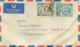 ENVELOPPE CYPRUS CHYPRE FAMAGUSTA COOPERATIVE CAROB MARKETING UNION LTD 1957 - Chypre (République)