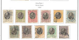 Serbia PO 1905 King Peter I° Scott.79/84+See Scan On Scott.Page - Serbia