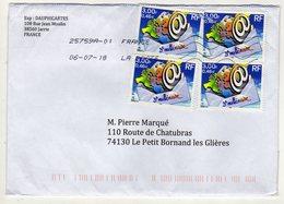 Enveloppe FRANCE Oblitération LA POSTE 25759A-01 06/07/2018 - Marcophilie (Lettres)