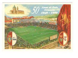 32 - 50° ANNIVERSARIO GRANDE TORINO - CALCIO - ANNULLO FILATELICO - STADIO FILADELFIA - Calcio