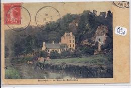 SAINT-LO- LE BOIS DE MONTCOCQ- CARTE COLORISEE ET TOILEE - Saint Lo