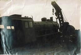 Photo Train Accident 16x11cm Belgique N° 5001 - Trains