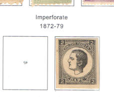 Serbia PO 1872/79 Prince Milan Imperf. Scott.26+See Scan On Scott.Page - Serbia