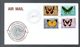 1966 Butterfly FDC (24) - Papouasie-Nouvelle-Guinée