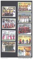 ERITREA,2010,FESTIVALS, DANCES,COSTUMES, 9v, MNH, SCARCE - Dance
