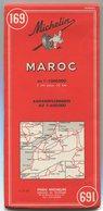 Carte Michelin MAROC N° 169 1969 - Roadmaps
