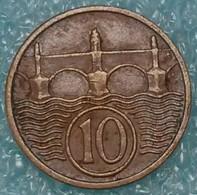 Czechoslovakia 10 Hellers, 1937 ↓price↓ - Czechoslovakia