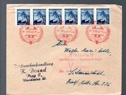 1941 Prag > Adolf Hitlerstrasse Litzenanstadt (bo10) - Bohemia Y Moravia