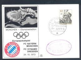 Germany Deutschland 1973 Cover: Fussball Football Soccer Calcio: Europa Pokal: FC Bayern Dynamo Dresen Olympic Stadion - Unclassified