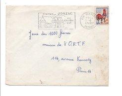FLAMME DE JONZAC CHARENTE - DATEUR INVERSE 1964 - Marcophilie (Lettres)