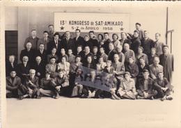 PHOTO ANCIENNE DU PHOTOGRAPHE JEAN DAZAUD DE SAINT ETIENNE,13 Eme KONGRESO DE SAT-AMIKARO ,5 -7 DE APRILO 1958,RARE - Plaatsen