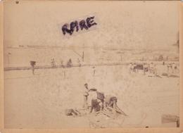 PHOTO ANCIENNE 1880,13,BOUCHES DU RHONE,MARSEILLE,PORT DE LA  JOLIETTE,METIER,TRAVAILLEUR,POMPIER?,ENFANT,MARSEILLAIS - Plaatsen