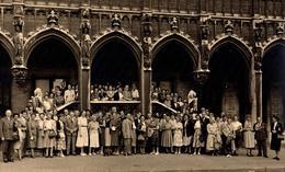 Grande Photo Originale énorme Groupe D'individus à Bruxelles Dans Les Années 1950/60 - Belgique - Photo Hersleven - Anonymous Persons