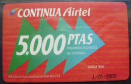 TARJETA AIRTEL - EDICION ESPECIAL NAVIDAD DE 5.000 PTS - A733 - Espagne