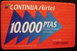 TARJETA AIRTEL - EDICION ESPECIAL NAVIDAD DE 10.000 PTS - A734 - Spain