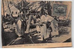 NICARAGUA : Saludes De Bluefields, Miskito Indian Girls, Pressing Sugar-cane - Etat - Nicaragua