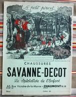 Ancien Protege Cahier D'Ecole PUBLICITAIRE Chaussures SAVANNE DECOT 52 Chaumont PETIT POUCET - Book Covers