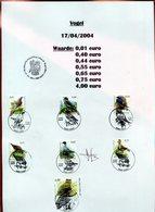 Belgie Andre Buzin Birds 3264/70 Fdc Gestempeld + Signature Andre Buzin RR!! - 1985-.. Oiseaux (Buzin)