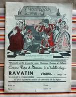 Ancien Protege Cahier D'Ecole PUBLICITAIRE Vetements RAVATIN 70 Vesoul CENDRILLON - Book Covers
