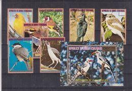 Guinée Equatoriale - Série + Bloc ** De 1976 - Sparrows