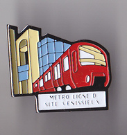 PIN'S THEME SNCF  METRO LIGNE D  SITE  VENISSIEUX - TGV