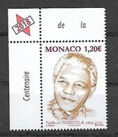 Monaco 2018 - Yv N° 3154 ** - Nelson Mandela - Neufs