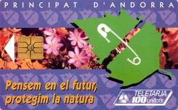 *ANDORRA* - Scheda A Chip Usata - Andorra