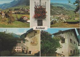 Andeer - Dorfpartien, Dorfeingang, Sgrafittohaus - Photo: Geiger - GR Grisons