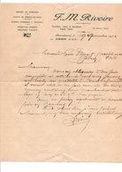 COURRIER F.M. RIVOIRE GRAINES DE SEMENCES à AUBAGNE BOUCHES DU RHONE 1932 - France