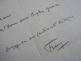 Paul FRANZ (1876-1950) Chanteur TENOR Art Lyrique. Opera PARIS. Autographe - Autographs