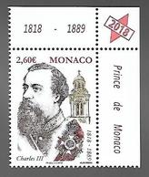 Monaco 2018 - Yv N° 3155 ** - Bicentenaire De La Naissance Du Prince Charles III - Unused Stamps